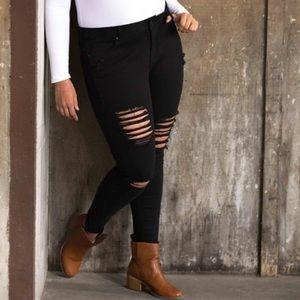 Denim - 2/$20 New Black Ripped Skinny Jeans